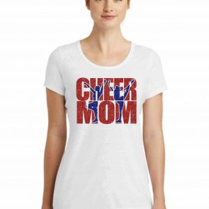 Cheer Mom-New Era® Ladies Tri-Blend Performance Scoop Tee